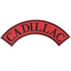 1st. tygmärke CADILLAC Röd 325x120mm