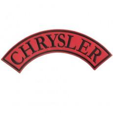 1st. tygmärke CHRYSLER Röd 325x120mm